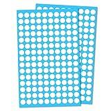 3000 Stück, 10mm Klebepunkte Etiketten Aufkleber Selbstklebende - Weiß
