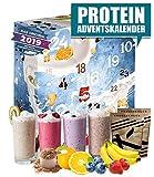 Protein Adventskalender I 24 verschiedene Proteinpulver I Geschenkidee für Fitnessbegeisterte I Eiweiß Protein Kalender für Sportler Erwachsene Muskelmänner