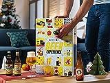 Bier Adventskalender 24 Flaschen verschiedene internationale Biere aus aller Welt als Geschenkbox