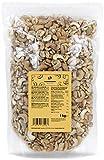 KoRo - Cashewkerne 240er 1 kg - Ganze Cashew Nüsse naturbelassen ohne Zusätze ungesalzen in Vorteilspackung