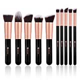 BESTOPE Make Up Pinsel Professionelles Pinselset Kosmetikpinselset Foundation pinsel und Gesichtspinsel make up pinsel set Augen pinsel Lippen pinsel(RosaGold)
