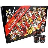 Chili- und BBQ-Adventskalender mit 24 Produkten   von mild bis höllisch   Geschenk für Advent und Weihnachten   Geschenk für Männer   Version mit Türchen   880g (24x37g)