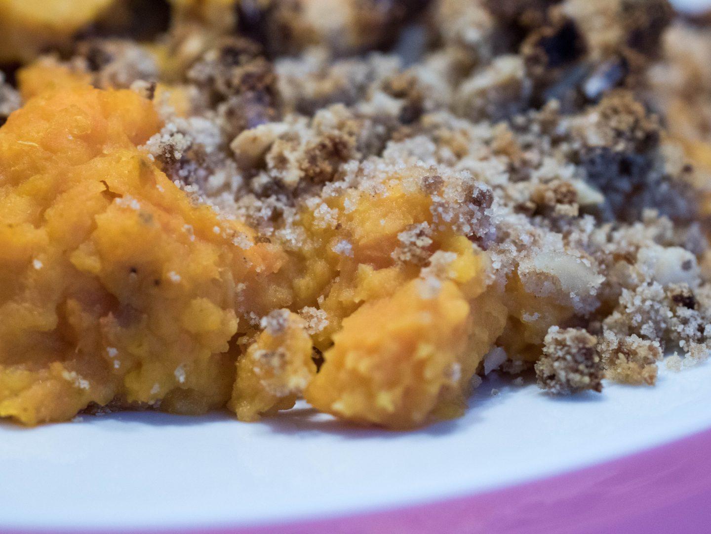 [FOOD] Kokos-Süßkartoffel-Auflauf mit süßer Walnusskruste