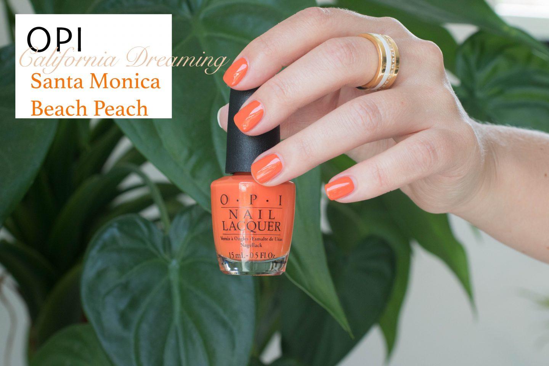 OPI California Dreaming Santa Monica Beach Peach