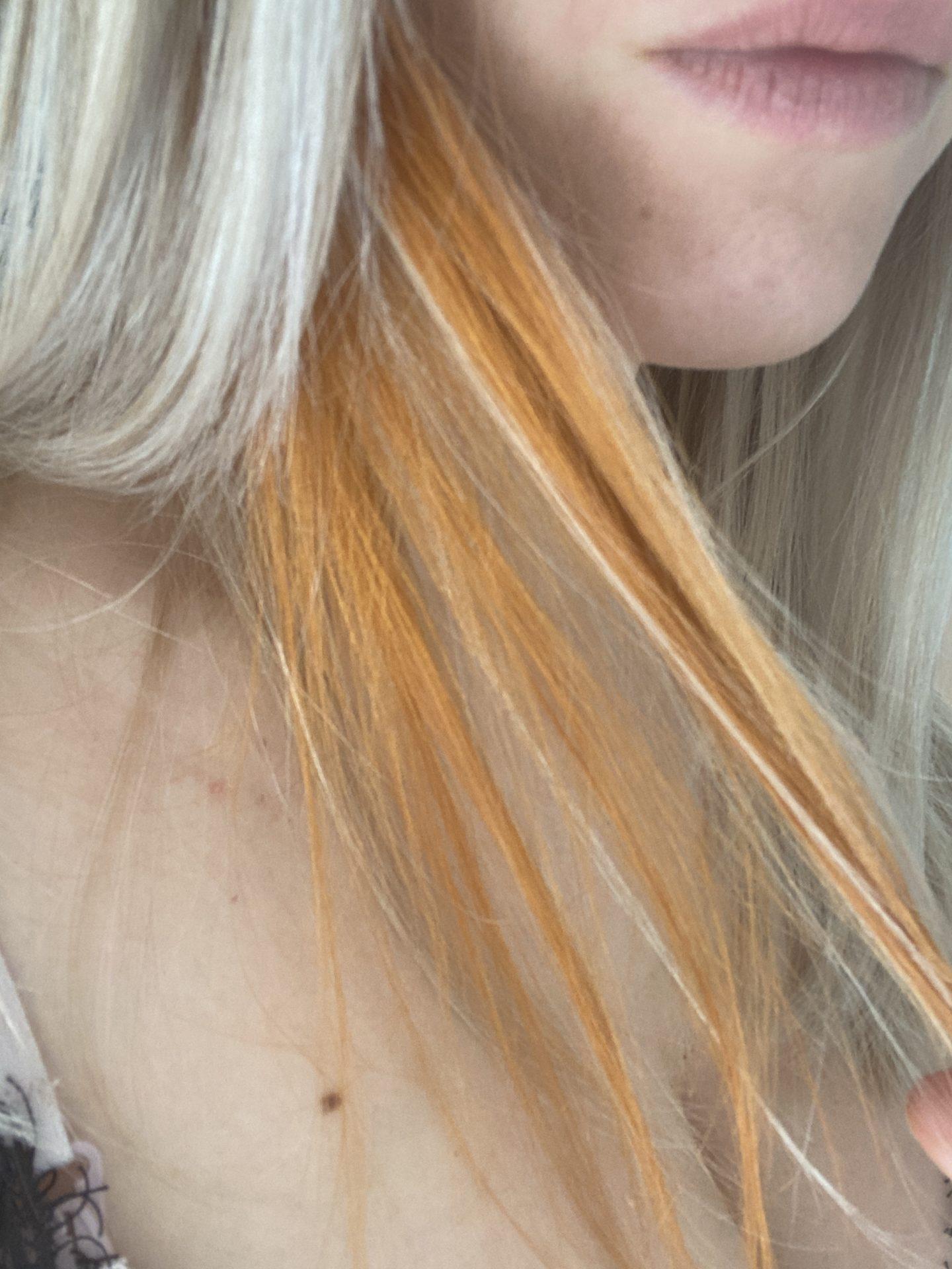 von blond auf rot färben Kupferrot