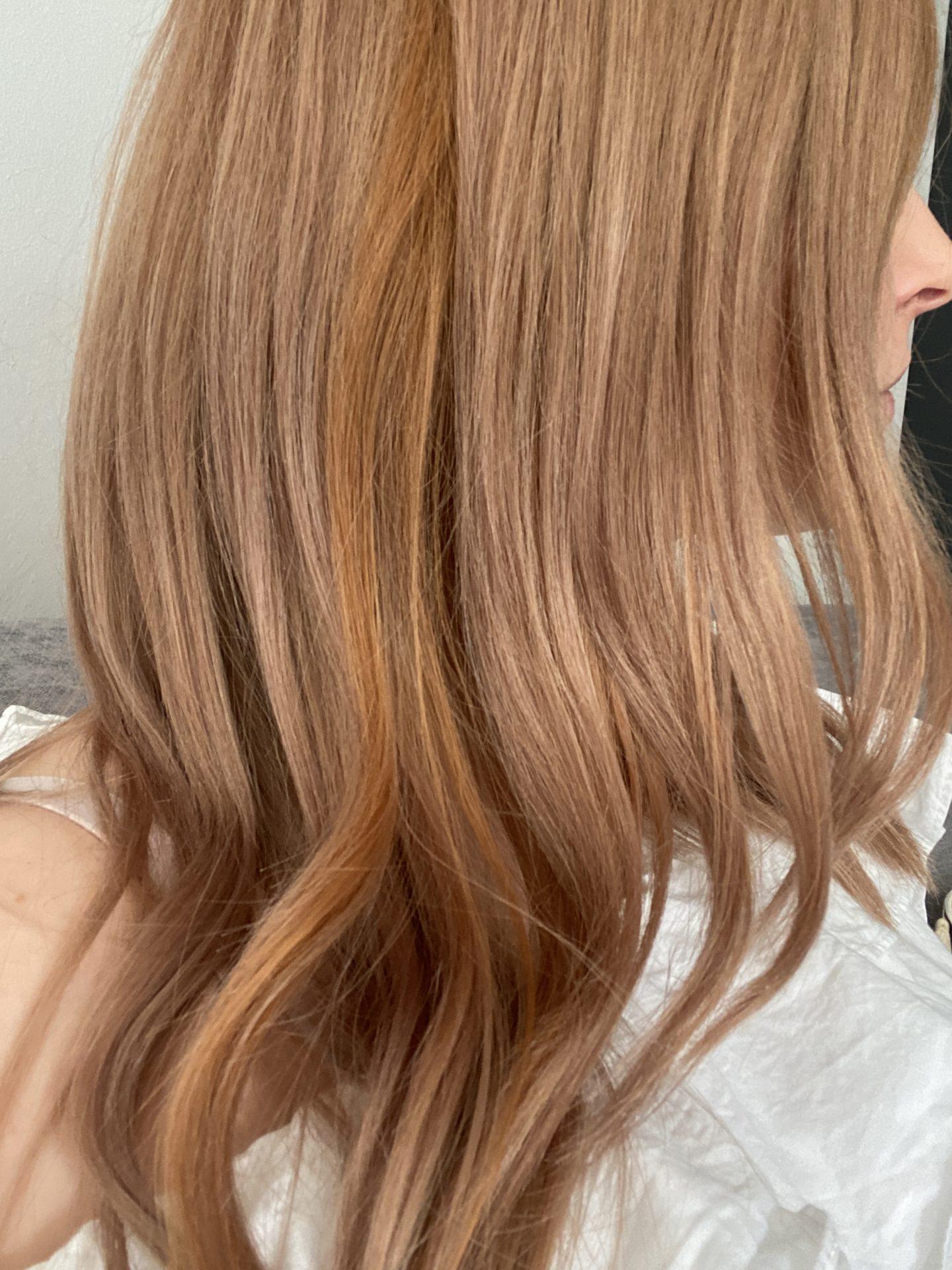 von blond auf rot färben erdbeerblond